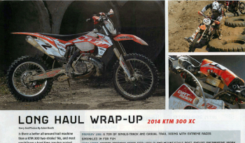 DirtRider 2014 KTM 300 XC Long Haul Wrap-Up